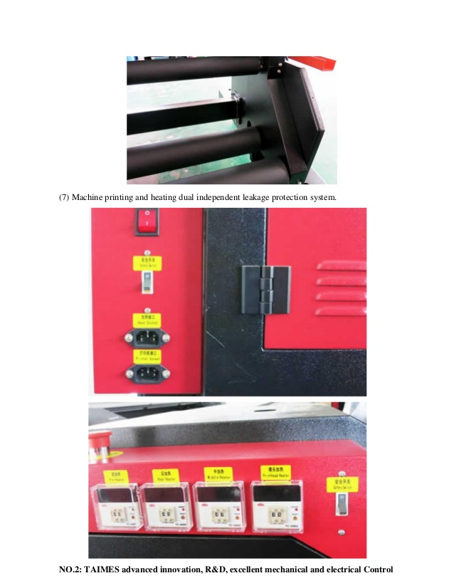Máy in và hệ thống đốt nóng kép chống rò rĩ được thiết kế độc lập.